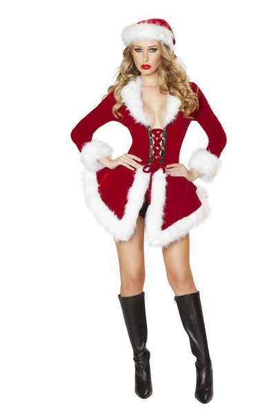 womens costume, C177-2pc Chic Santa Women's Christmas Costume - Lavender's Dream