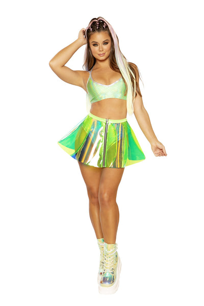 skirt, FF383 - Holographic Vinyl Pinwheel Skirt - Lavender's Dream