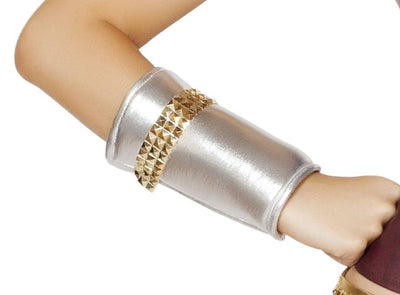 arm bands, RMGL104 - Wrist Cuffs with Gold Trim Detail, Costume Accessory - Lavender's Dream
