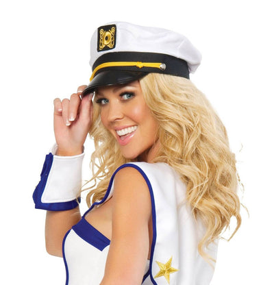 hat, RMH107 - Sailor Captain Hat, Costume Accessory - Lavender's Dream