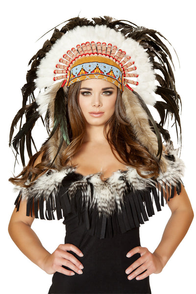 hat, RMH4471 - Native American Headdress, Costume Accessory - Lavender's Dream