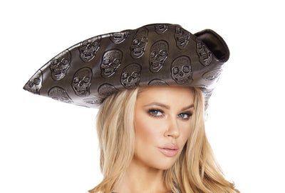 hat, RMH4566 - Skull Embroidered Pirate Hat, Costume Accessory - Lavender's Dream