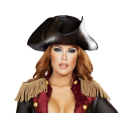 hat, RMH4784 - Leatherette Pirate Hat, Costume Accessory - Lavender's Dream