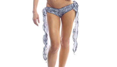 shorts, LP009 Lace Print Ribbon Tie Shorts - Lavender's Dream