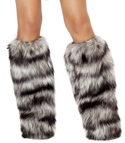 leg warmers, RMLW4475 - Fur Leg Warmer, Costume Accessory - Lavender's Dream