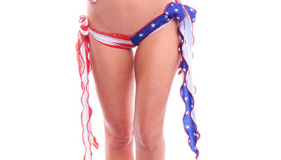 shorts, PA066 Flag Ribbon Tie Shorts - Lavender's Dream