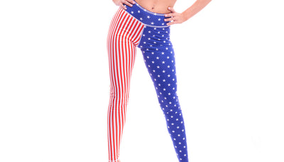 leggings, PA074 Flag Leggings - Lavender's Dream