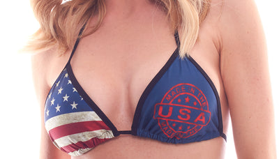 bikini tops, PA181650 - Patriotic Tri Top - Lavender's Dream