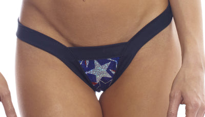 thong, SS004 Spangled Stars Comfort V Thong - Lavender's Dream