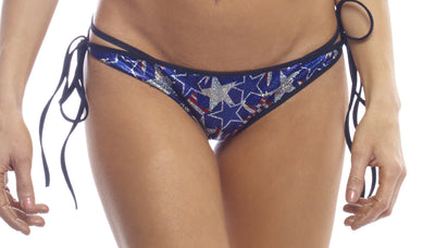 shorts, SS006 Spangled Stars Tie Side Scrunch Bottom - Lavender's Dream