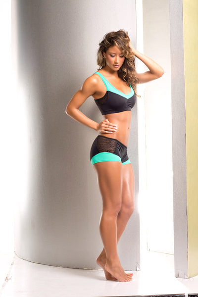 athletic short, VV036 Phoenix Scrunch Back Short, Mint or Gypsy - Lavender's Dream