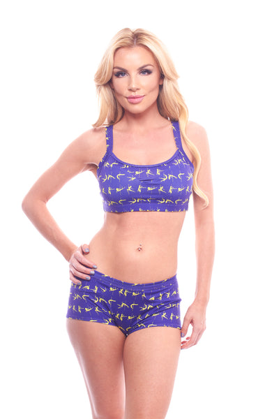 athletic short, VV070 Splash Short, Purple - Lavender's Dream