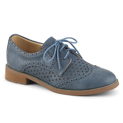 "oxford, HEPBURN-26 - 1"" Heel Wingtip Oxford with Star Cutouts - Lavender's Dream"