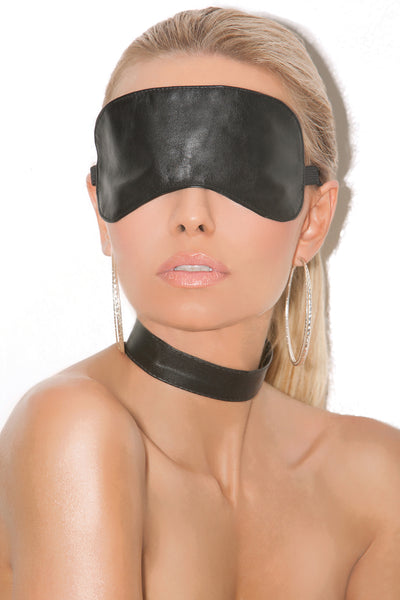 mask, EML9152 - Leather blindfold - Lavender's Dream