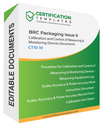 BRC Packaging Callibration Documents