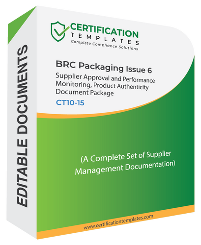 BRC Packaging Supplier Management