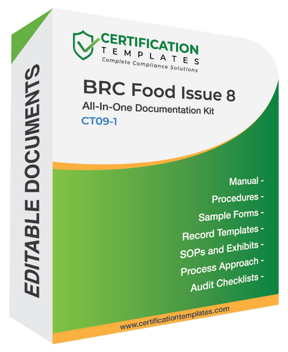 BRC Food Issue 8 Documentation Kit