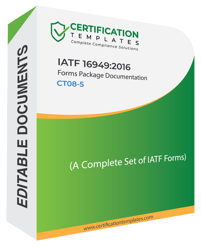 IATF 16949 Forms Package