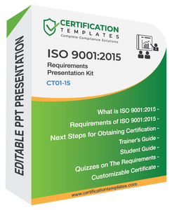 ISO 9001 Requirements Training Kit