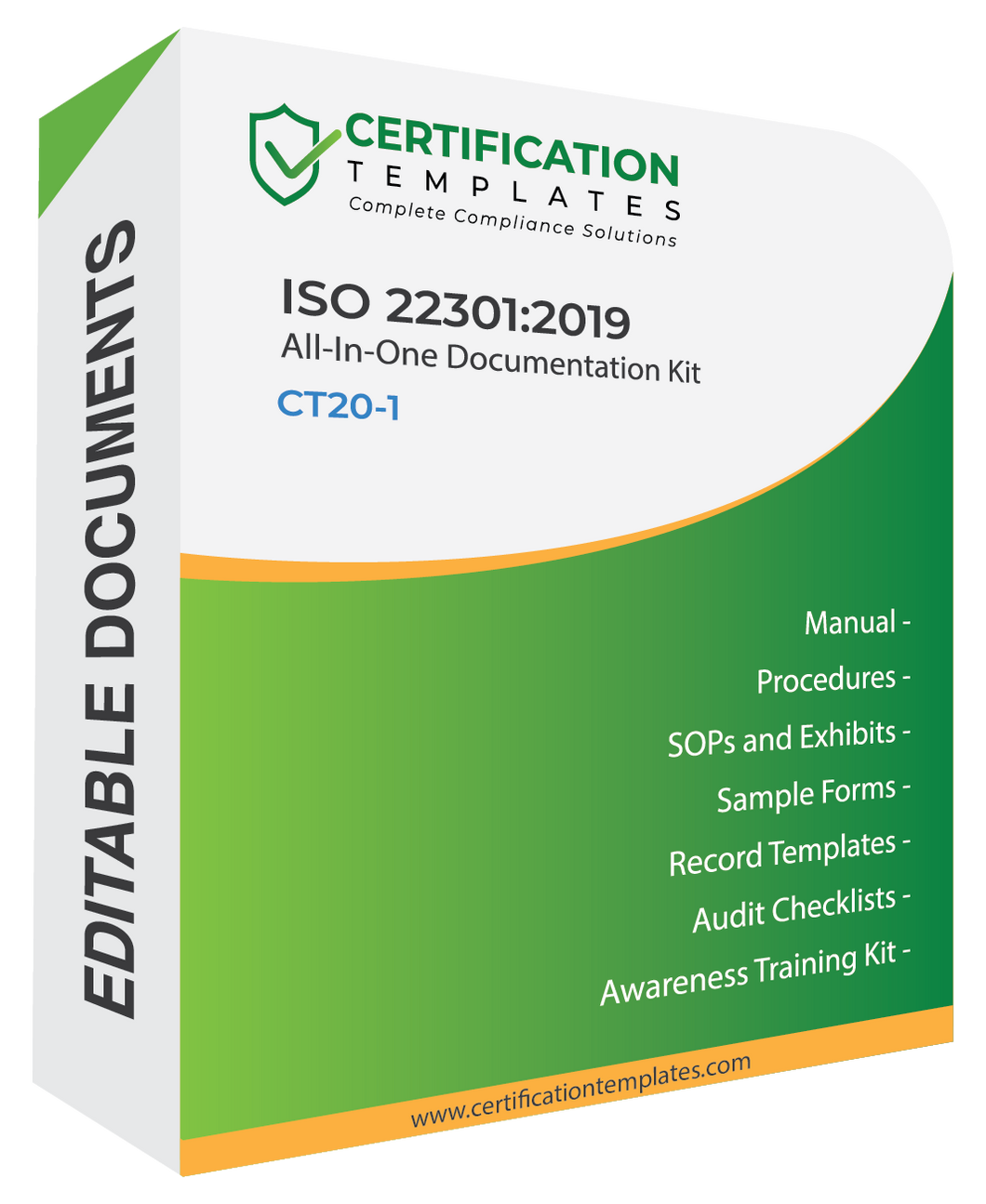 ISO 22301 Documentation kit