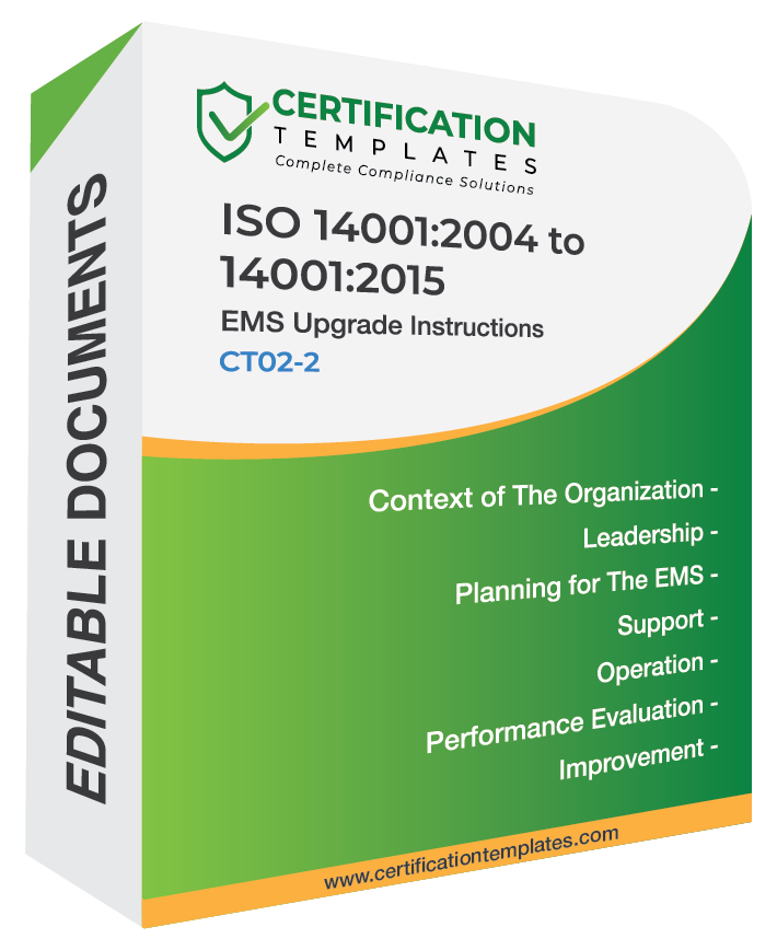ISO 14001 2015 Transition Documentation