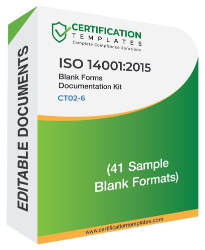 ISO 14001 Blank Forms