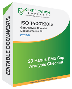 ISO 14001 Gap Analysis Checklist