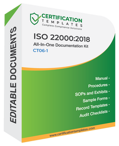 ISO 22000 Documentation Kit
