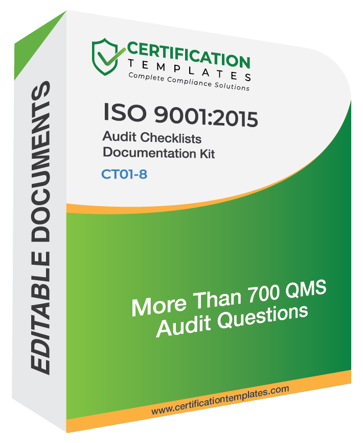 ISO 9001 Audit Checklists Document