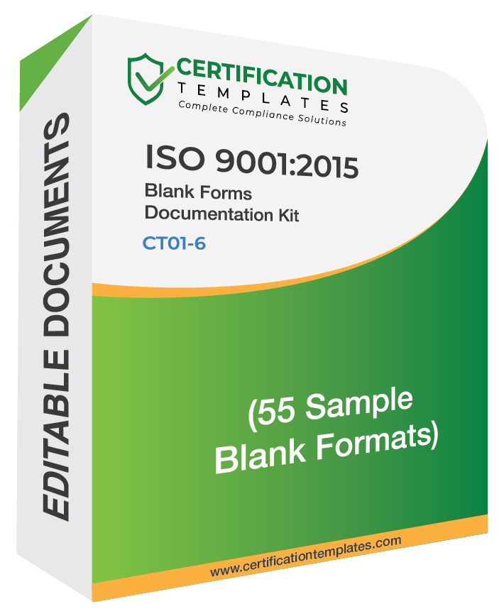 ISO 9001 Blank Forms