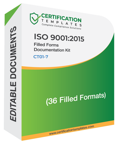 ISO 9001 Filled Forms