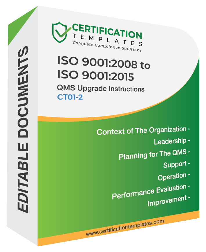 ISO 9001 Version 2015 Documentation