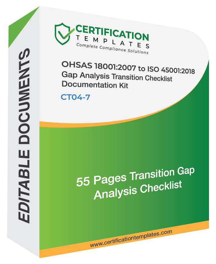 OHSAS 18001 Gap Analysis Transition