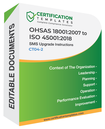OHSAS 18001 to ISO 45001 Transition