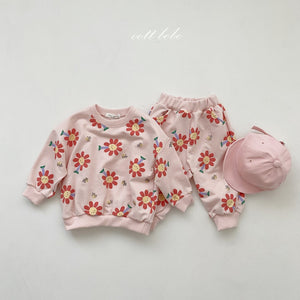 Spring Floral top and pants set *Preorder