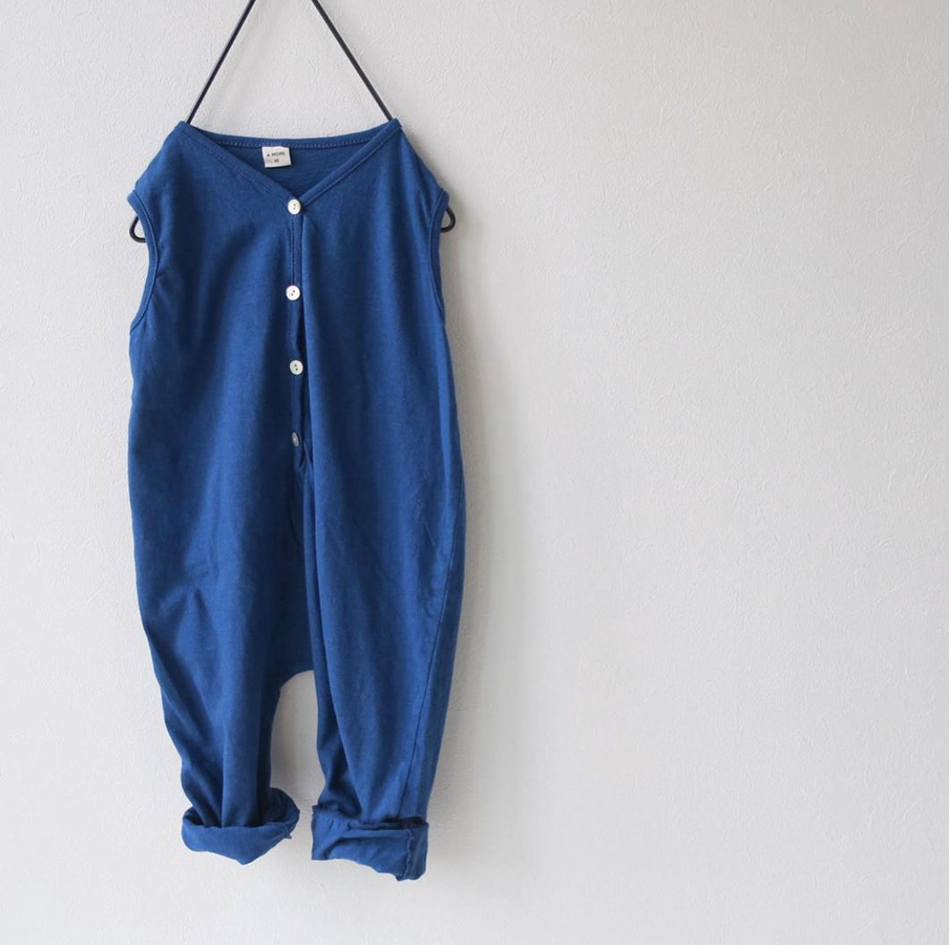 Navy Cotton Overall