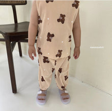 Load image into Gallery viewer, Melon Switch Pleat Bear Top and Pants *Preorder