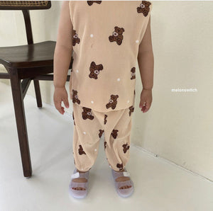 Melon Switch Pleat Bear Top and Pants *Preorder