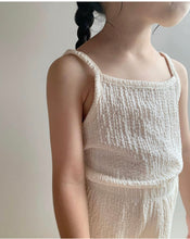 Load image into Gallery viewer, Wrinkle Cardigan Sleeveless Bottom Set  *Preorder