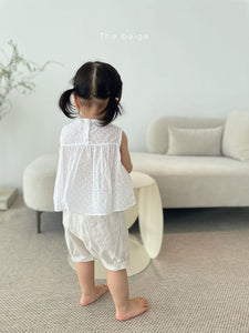 STOCK - Frill Point Sleeveless Top * Preorder