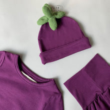 Load image into Gallery viewer, Eggplant Gagi Baby Set ( Hat + Top + Bottom) * Preorder