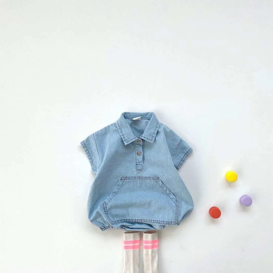 Melon Blue Denim Suit