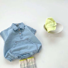 Load image into Gallery viewer, Melon Blue Denim Suit