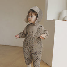 Load image into Gallery viewer, Little boy dotted dungaree