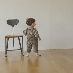Little boy dotted dungaree