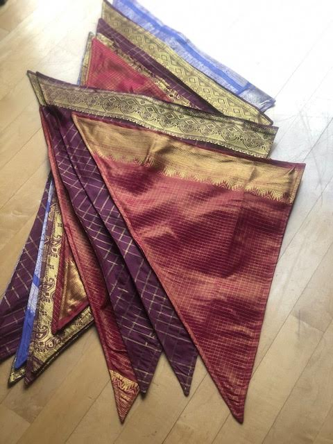 Double Sided Sari Scarves