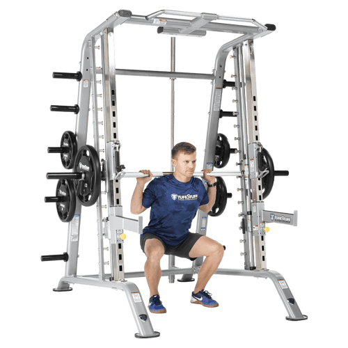 TuffStuff Evolution Smith Machine / Half Cage Combo (CSM-600) Squat