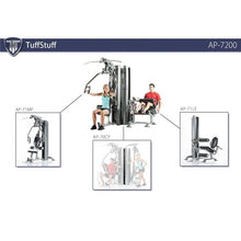 Load image into Gallery viewer, TuffStuff Apollo 7200 2-Station Multi Gym diagram