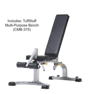 TuffStuff Fitness (CSM-725WS) includes CMB-375 Multi-Purpose Bench
