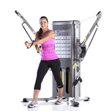 Load image into Gallery viewer, TuffStuff Evolution Dual Stack Functional Trainer (MFT-2700) in use